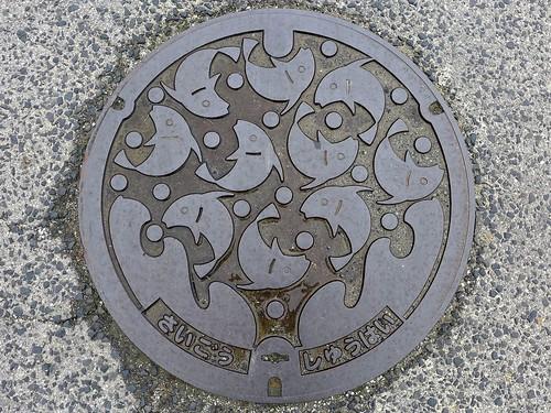 Saigo Shimane, manhole cover 2 (島根県西郷町のマンホール2)