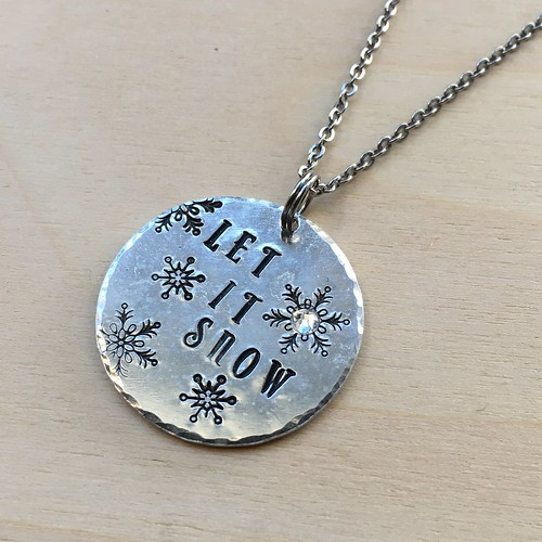 Let It Snow pendant