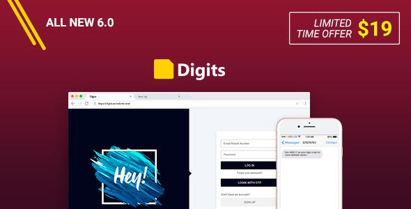 Digits v6.1 – WordPress Mobile Number Signup and Login