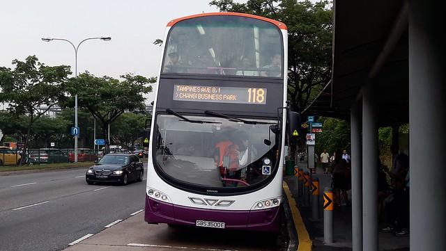 SBS3500E on SBS Transit Bus Service 118