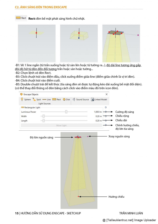 Giáo trình hướng dẫn sử dụng ENSCAPE Sketchup của Trần Minh Luân