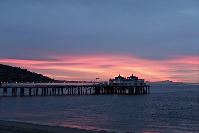morning light at the malibu pier