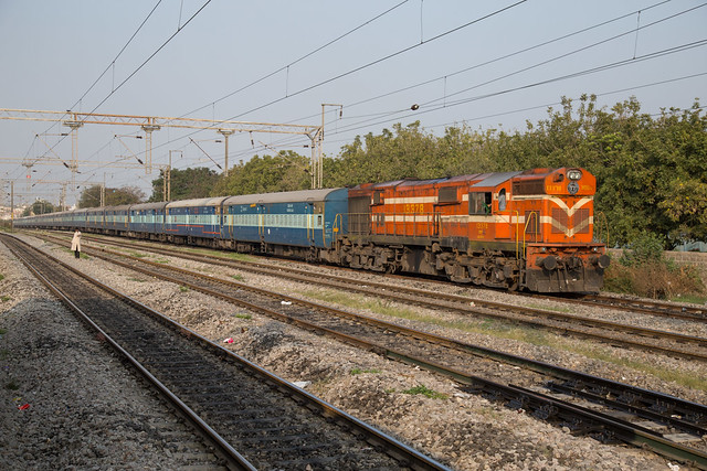 IR WDG-3A 13378 on the outskirts of Hyderabad