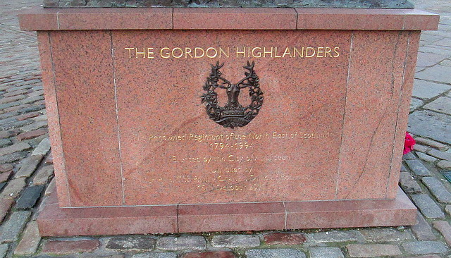 Dedication, Gordon Highlanders Memorial 4
