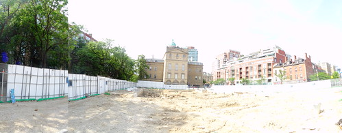 Pano of excavation of the North St Lawrence Market, 2017 06 28 -a