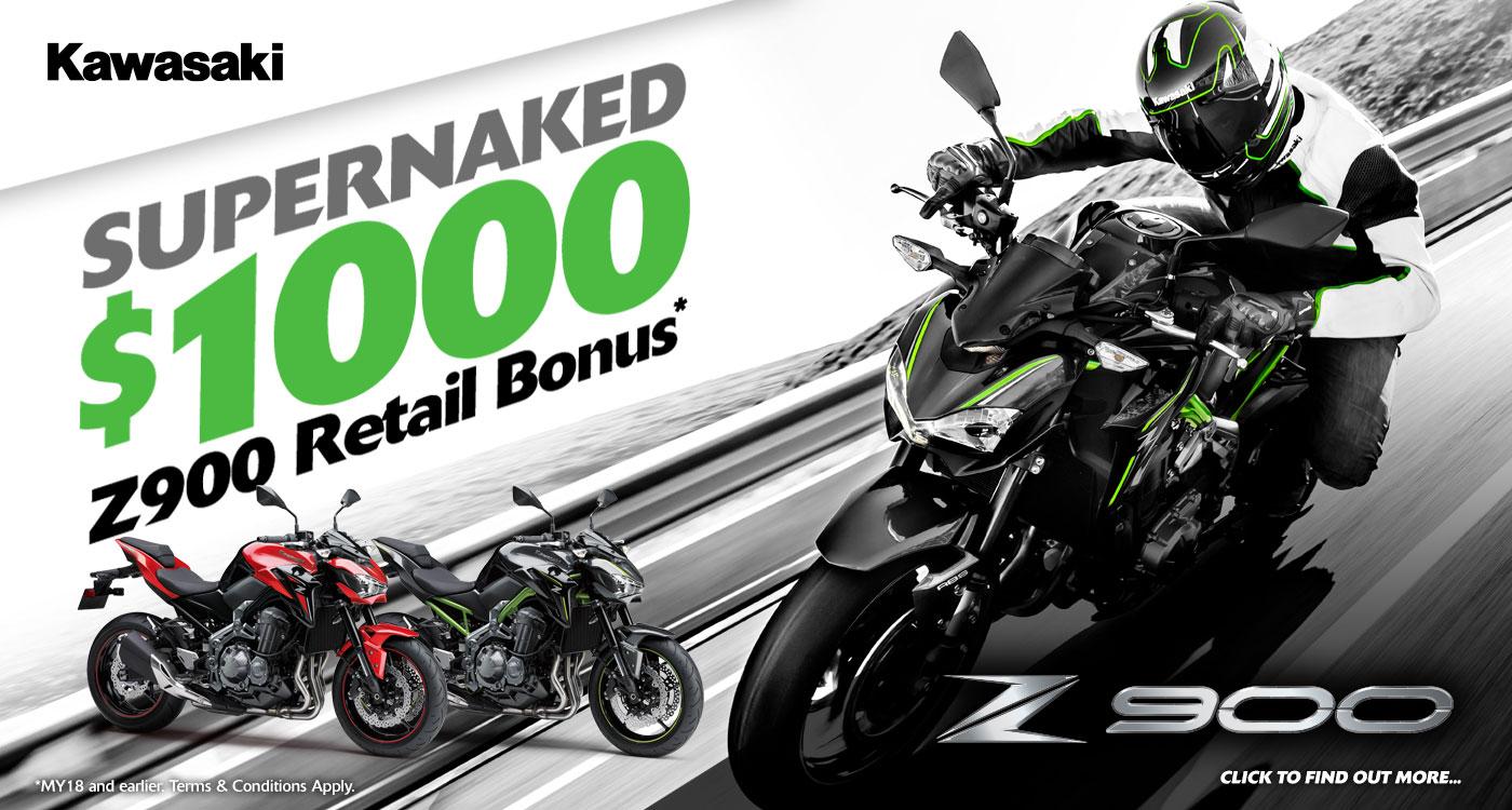 Z900 Supernaked $1000 retail bonus