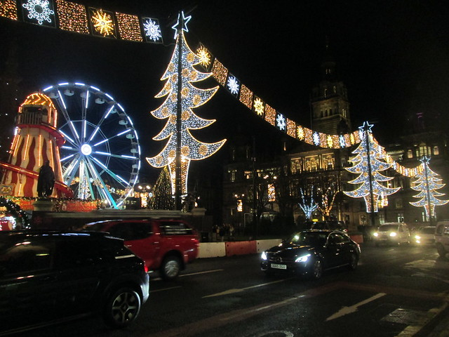 Christmas lights,George Square, Glasgow