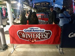 Entrance booth into Winterfest