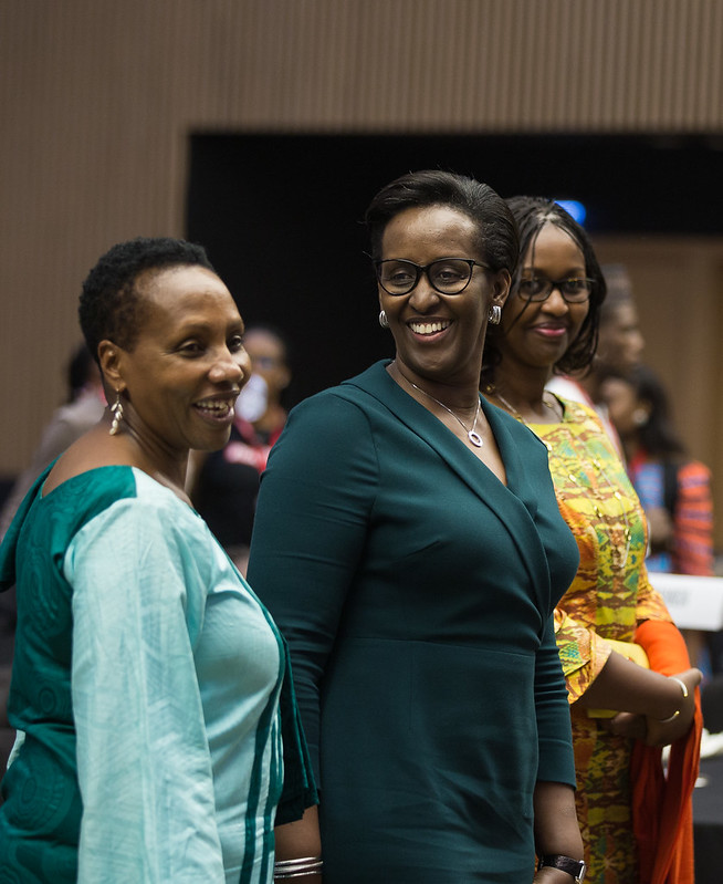 First lady of Rwanda attends the special pre-conference luncheon of the International Conference on Family Planing