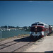 15.2.1987 Goolwa - South Australia steamranger loco SAR 909 on Southern Encounter (p0106707_k)