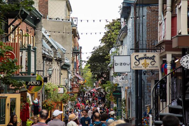 Crowded Little Street
