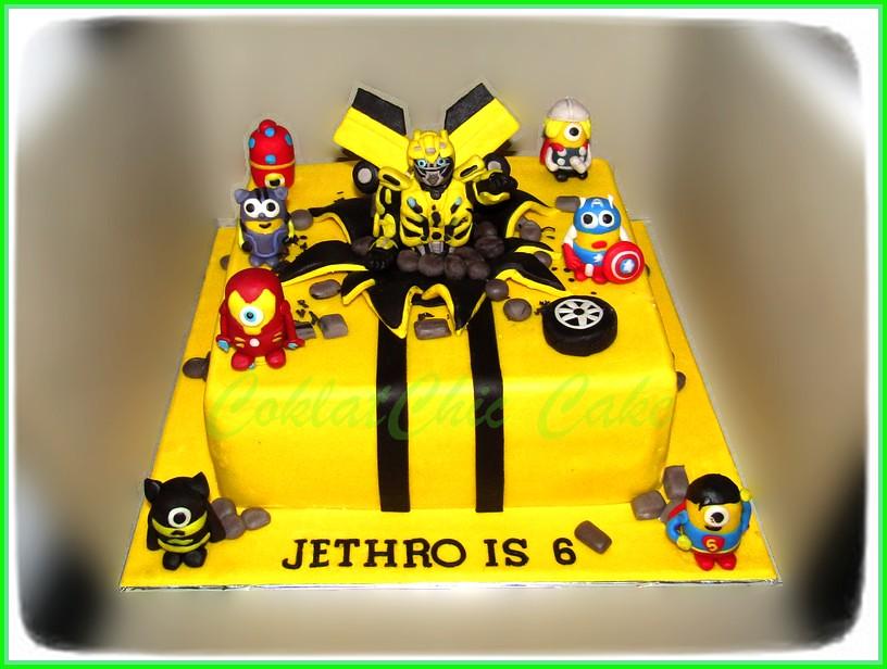 Cake Bumblebee & minion Avengers JETHRO 24 cm