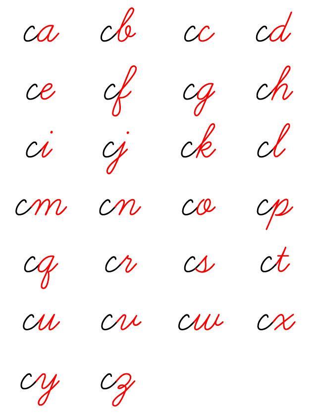 筆記体 書き方 文字のつなげ方 アルファベット 英語 英文