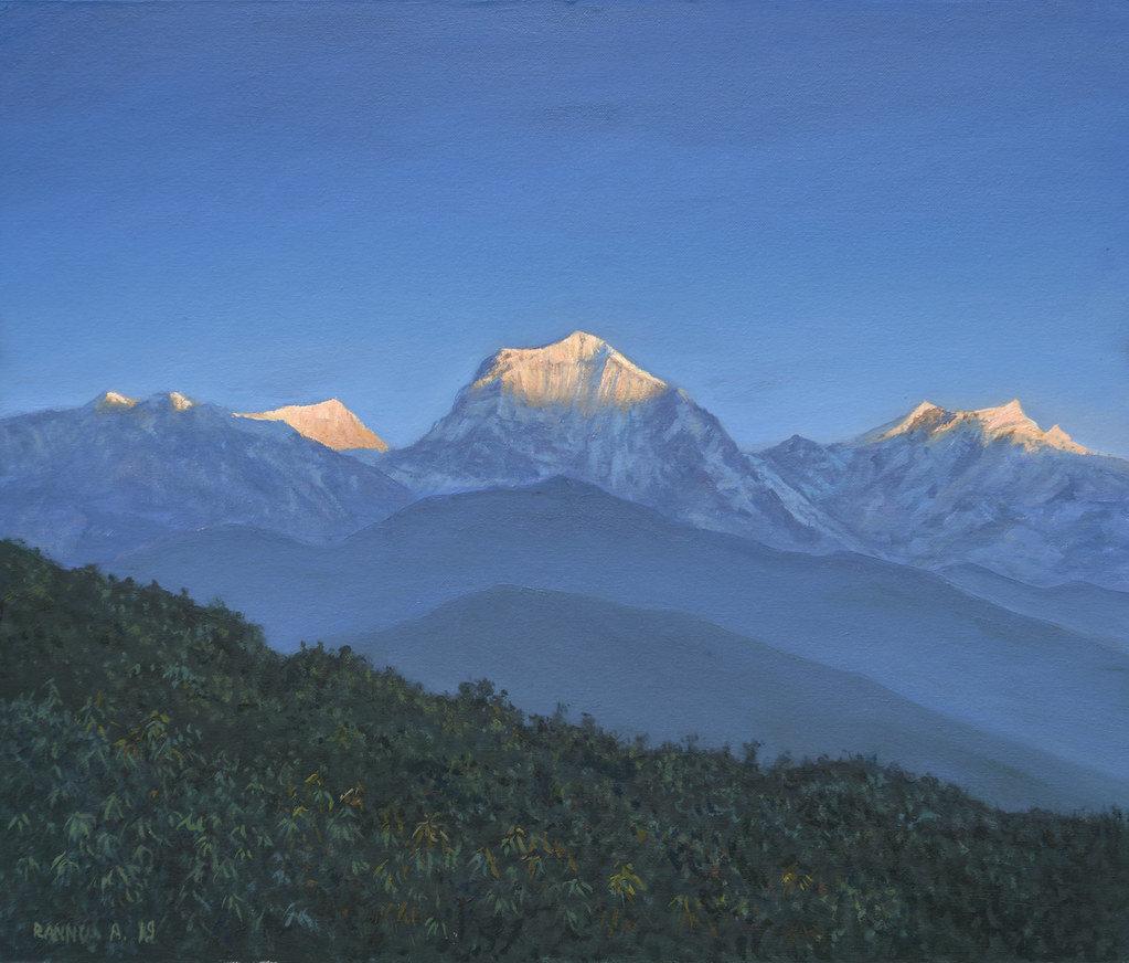 """Morning in Himalaya"" oil-canvas 60-50 cm"