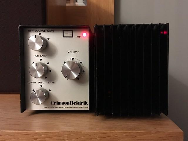 Crimson Elektrik Pre-Amplifier Model 510 and Power Amplifier Model 530