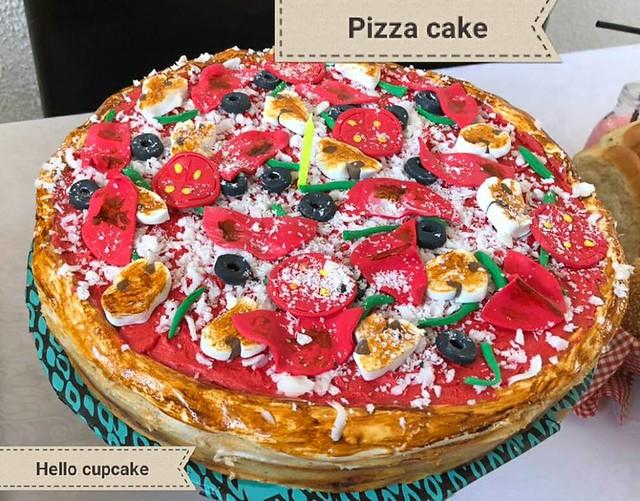 Marble Pizza Cake by HELLO Cupcake Fourways & Benoni