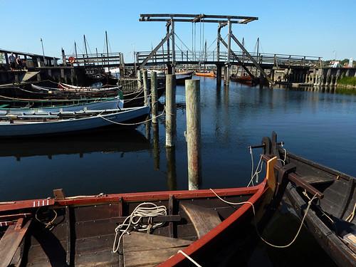 A drawbridge near the Viking boat museum in Roskilde, Denmark