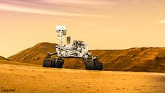 Mars rover on Mars expedition. Original from NASA. Digitally enhanced by rawpixel.