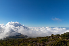 Above the clouds at Haleakala National Park Maui Hawaii