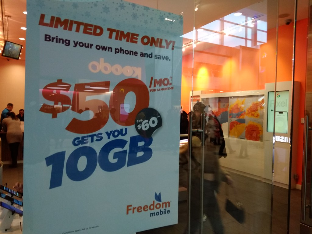 Freedom mobile $50/10GB