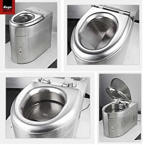 Eco stainless steel toilet