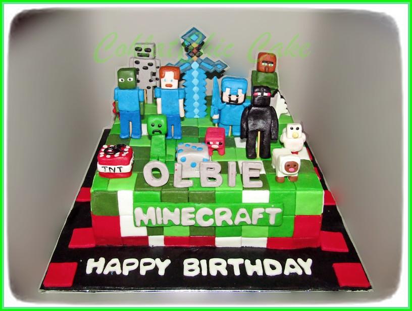 Cake Minecraft OLBIE 24 cm