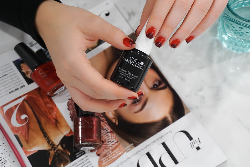 Monochromatic Glam Fall Manicure with CND™ VINYLUX™
