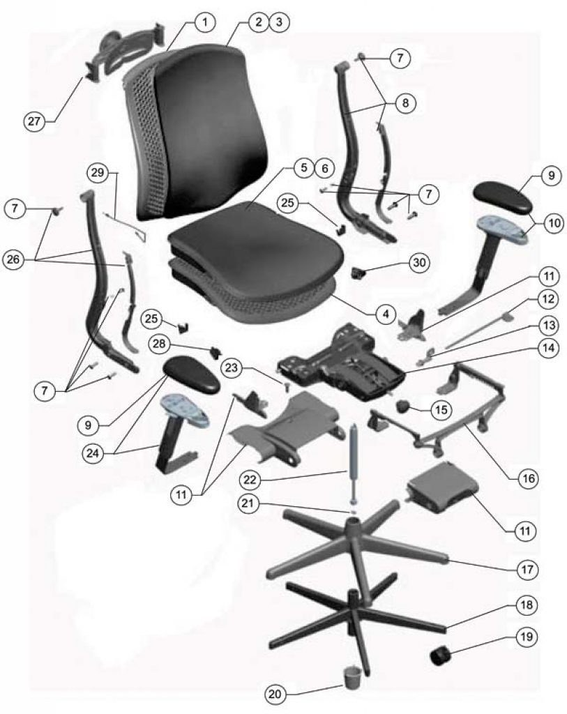 Can You Name These Executive Office Chair Parts