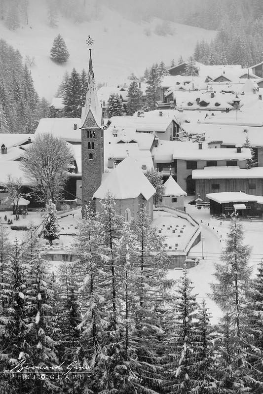 Bergün/Bravuogn (1372 m), début de la partie la plus escarpée de la vallée de l'Albula  - Rhätishe Bahn, Chemins de fer rhétiques, Bernina Express, Glacier Express - Bernard Grua