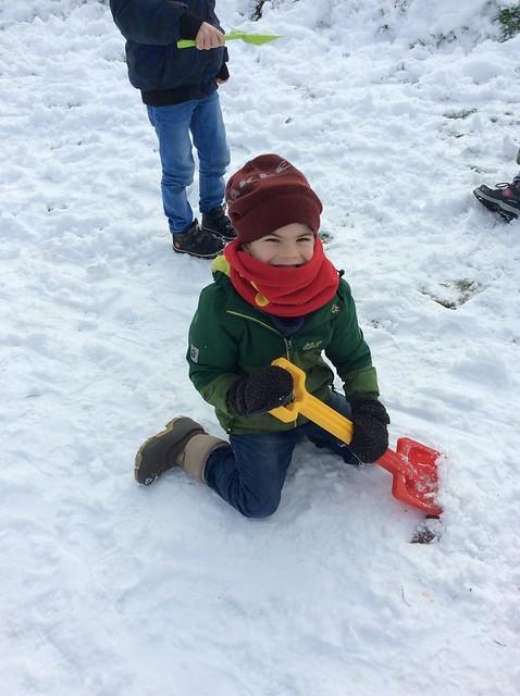 Sneeuwpret op school (1e en 6e lj)
