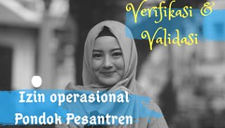 Verifikasi Validasi Penerbitan Izin Operasional Pondok Pesantren