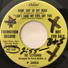 THE LETTERMEN:GOIN' OUT OF MY HEAD(LABEL SIDE-A)