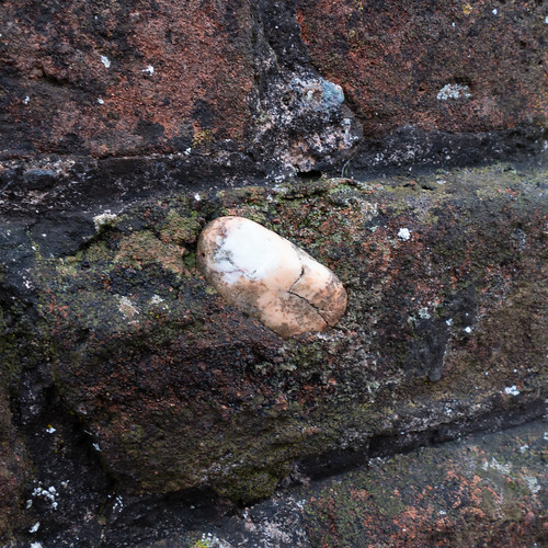 Stone in a brick, Wightwick Lock