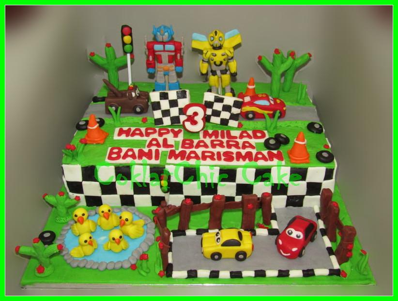Cake Transformers & disney CARS BARRA BANI 22x33 cm