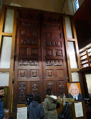 A peek into the library on our evvening tour of downtown Guadalajara