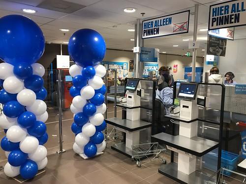 Ballonpilaar Breed Rond Opening Zelf Scan Kassa Albert Heijn Akkerhof Spijkenisse