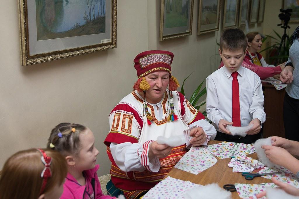 Мастер класс с детьми в музее «Тарханы». Мастер Татьяна Алексеева