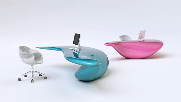 Оригинальный стол футуристического дизайна