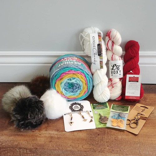 Sneak peak of the amazing prize pack that we are giving away! To increase your odds, post a picture of yourself or an item you purchase at one of the three shops using the #windsoressexchristmasyarncrawl to get an extra ballot. See you Saturday!