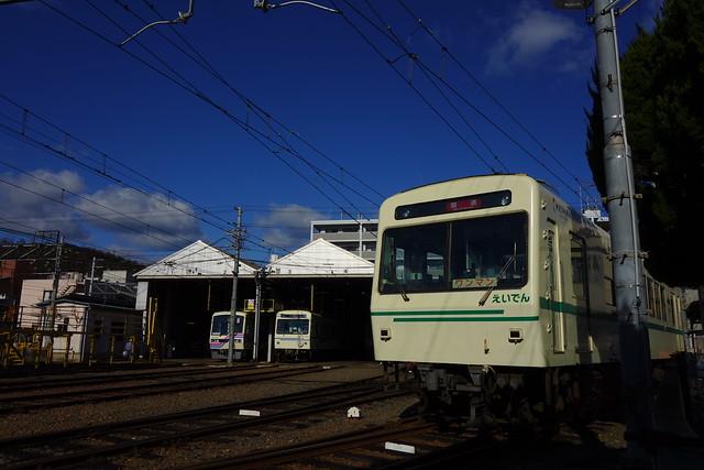 叡山電車修学院車庫 (2019/01)