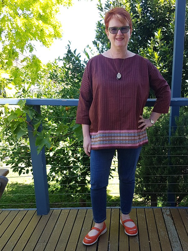 Tessuti Athina top in hand-woven cotton from Laos