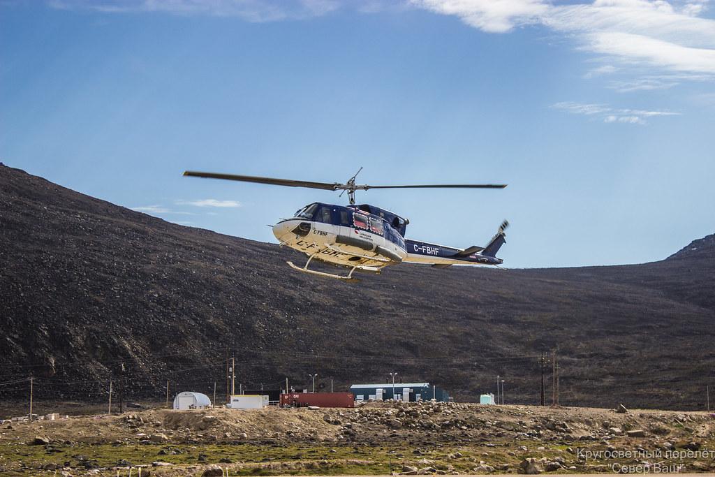 Внутри этого вертолёта стоят баки в которых перевозится топливо на гору