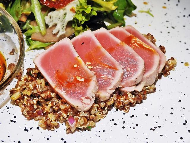 Smoked Tuna Tataki On Quinoa Salsa