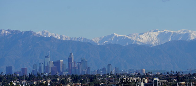 Snow Above LA (Morning)