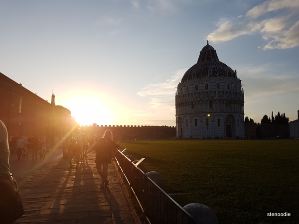 Pisa Cathedral Square sunset