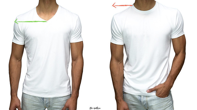 Camiseta blanca cuello en v