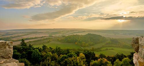 Tuscany? - Autumn View from Veste Wachsenburg, Thuringa