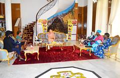 Audience avec la Première Dame du Tchad, Mme. Hinda Déby Itno, le 4 décembre 2018
