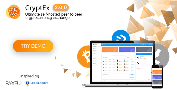 CryptEx v2.0.0 – Ultimate peer to peer CryptoCurrency Exchange platform (with self-hosted wallets)