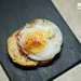 Chorizo and quail egg toast